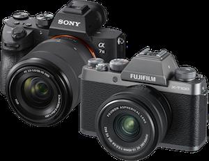 Sony and Fuji Camera