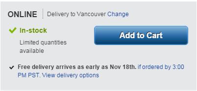 Delivery Estimate Area