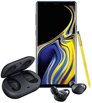 Samsung Galaxy Note9 and IconX cord-free earbuds