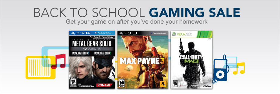 Back To School Gaming Sale