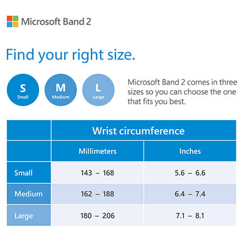 Microsoft Band Sizing Guide