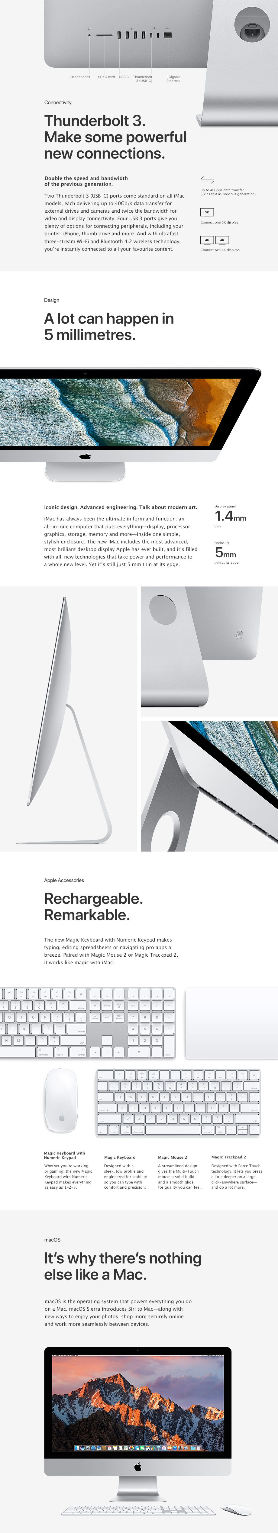 Connectivity, Design, Accessories, macOS