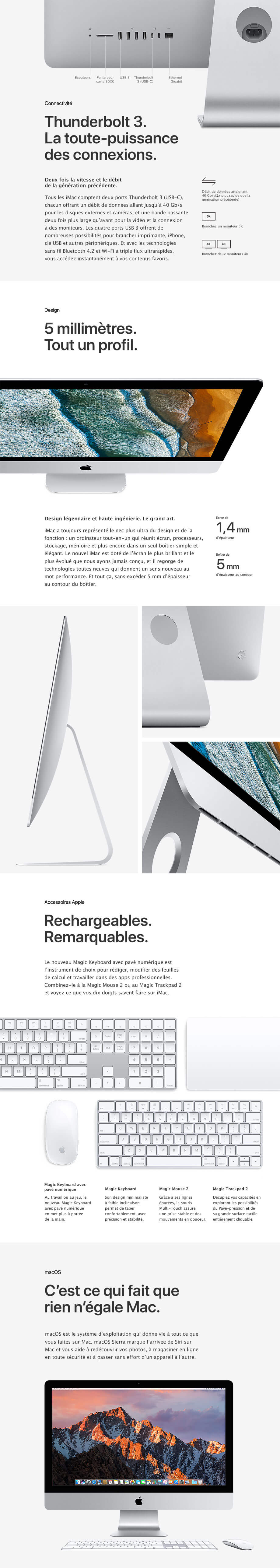 Connectivité, Design, Accessories, macOS