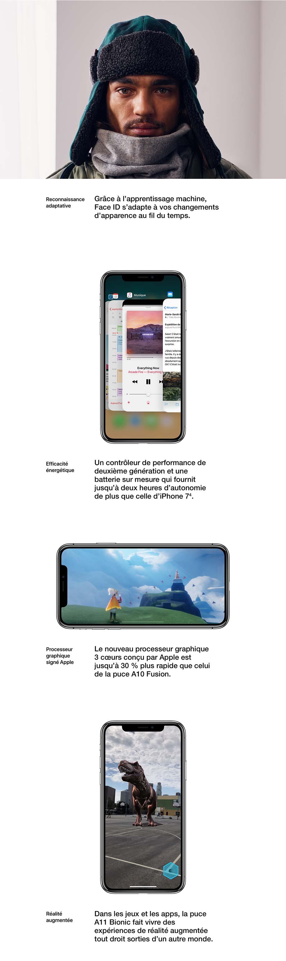 Reconnaissance adaptative, Efficacité énergétique, Processeur graphique signé Apple, Réalité augmentée