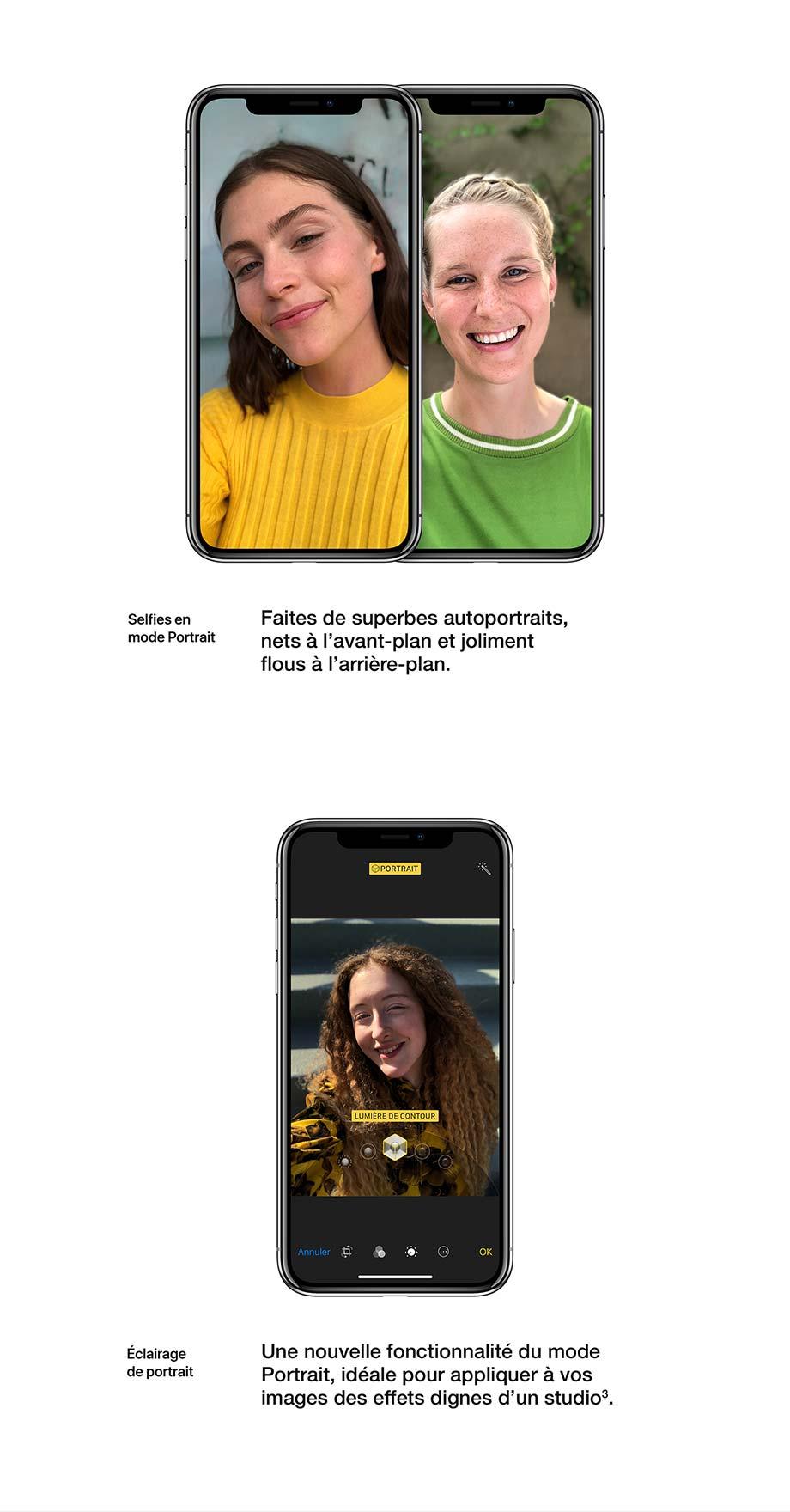 Selfies en mode Portrait, Éclairage de portrait