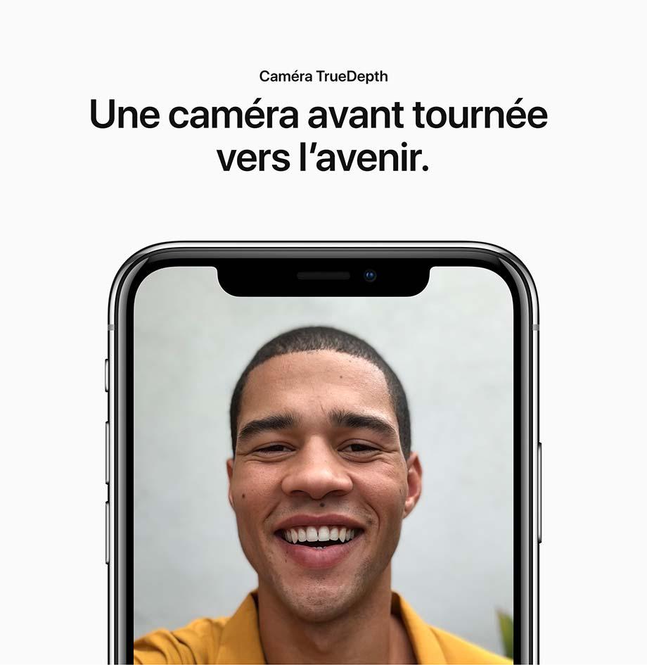 Caméra TrueDepth - Une caméra avant tournée vers l'avenir