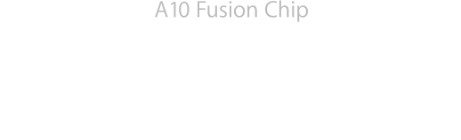 A10 Fusion Chip. The most powerful chip ever in a smartphone.