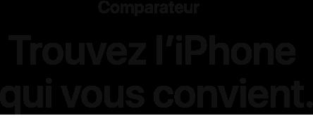 Comparateur - Trouvez l'iPhone qui vous convient