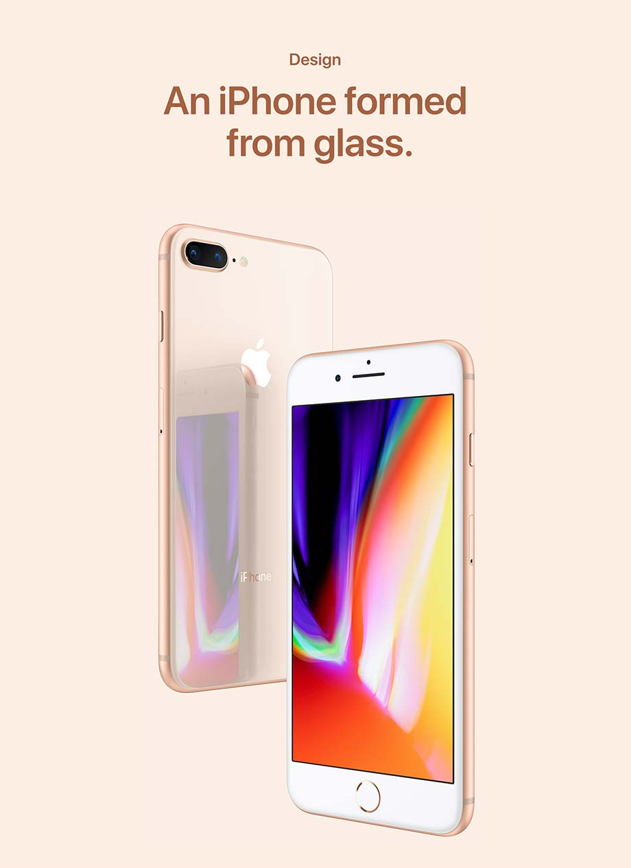 Design - An iPhone formed from glass