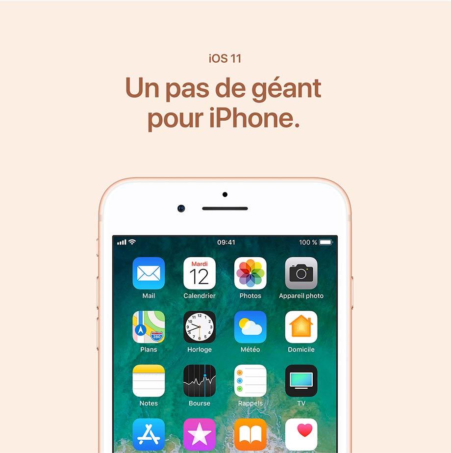 iOS 11 - Un pas de géant pour iPhone.