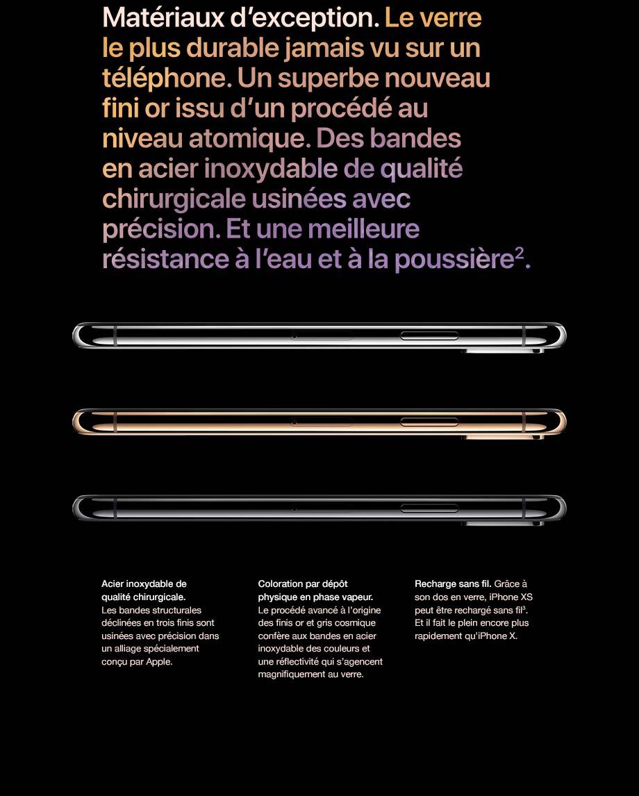 Le verre le plus durable jamais vu sur un téléphone. Un superbe nouveau fini or issu d'un procédé au niveau atomique.