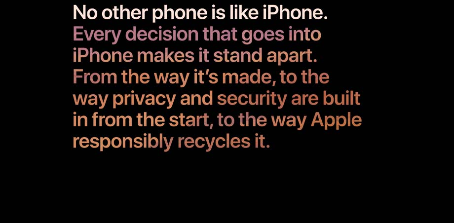 From the way it's made, to the way privacy and security are built in from the start, to the way Apple responsibly recyles it.
