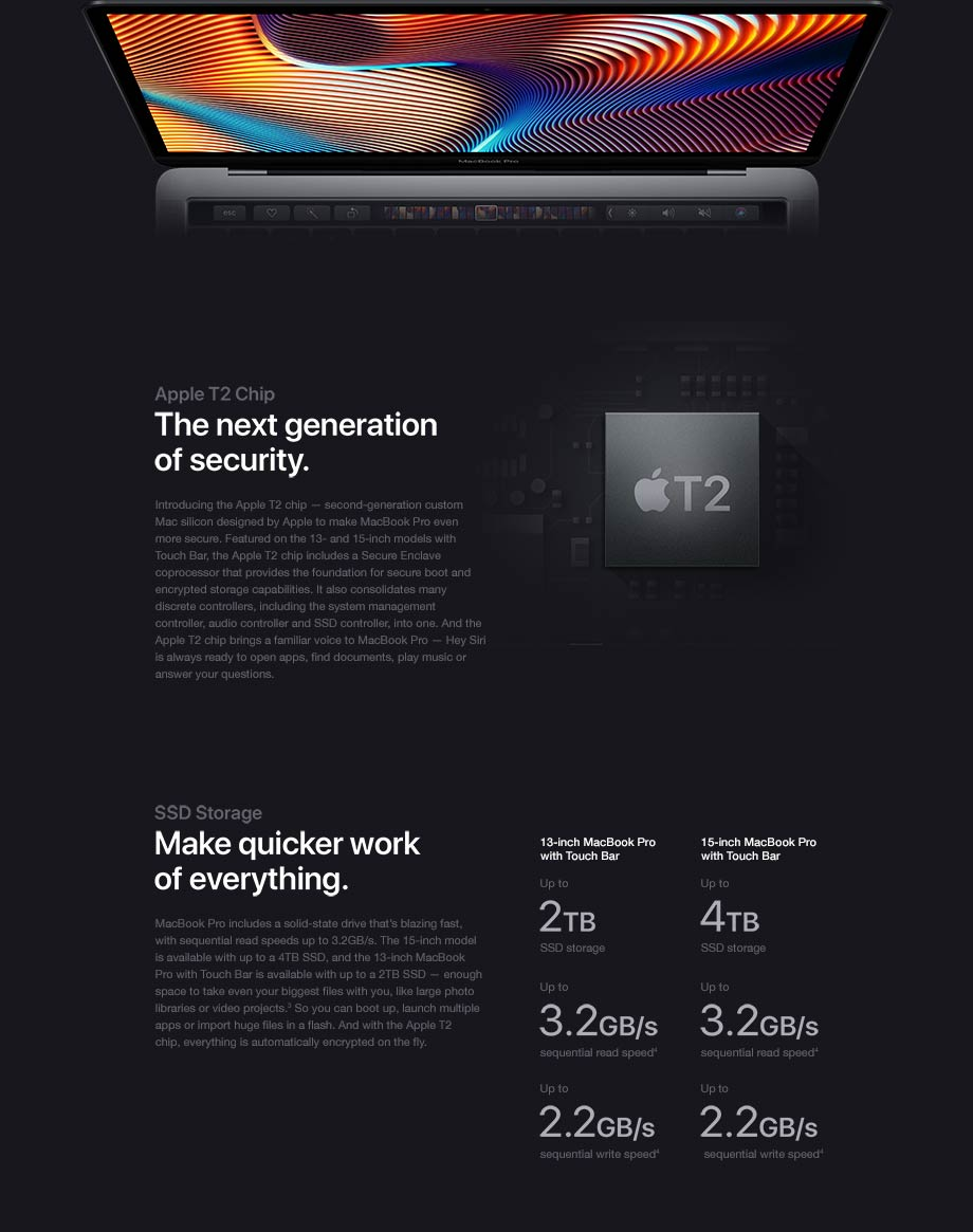 Apple T2 Chip - The next generation of security.