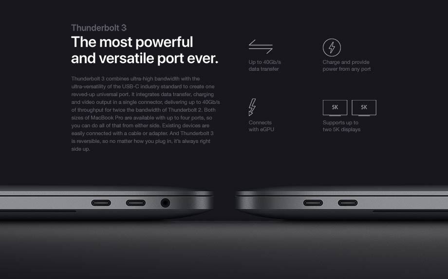 Thunderbolt 3 - The most powerful and versatile port ever.