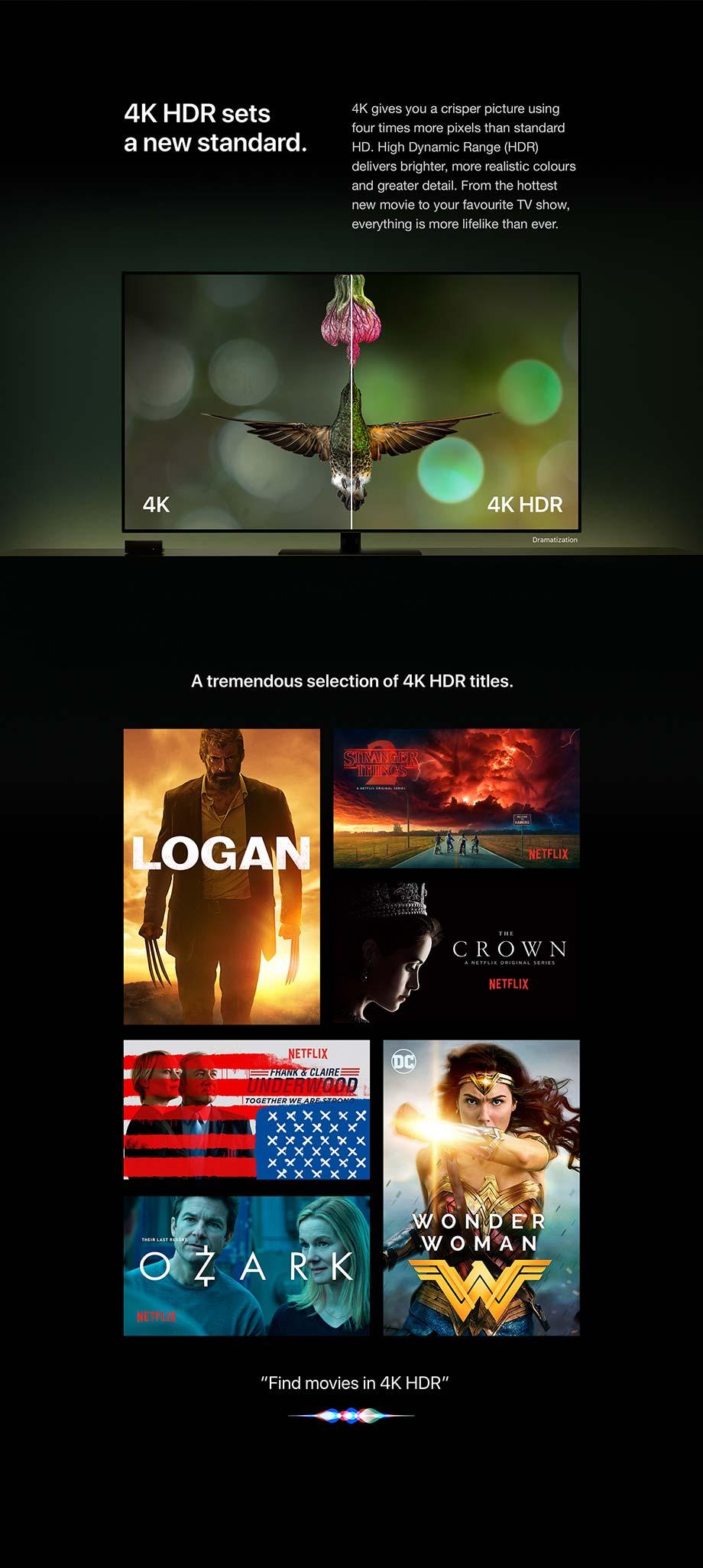 4K HDR sets a new standard.