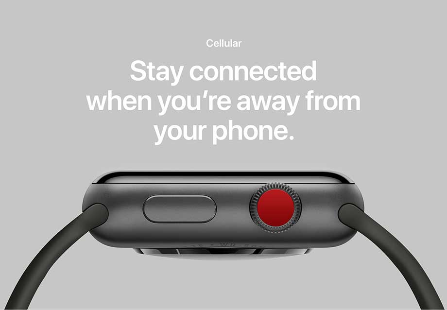 Cellular - Stay connected when you're away from your phone