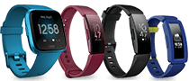 Fitbit Versa Lite Edition, Fitbit Inspire, Fitbit Inspire HR, and Fitbit Ace 2