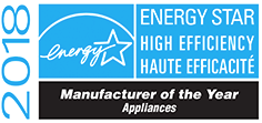 2018 Energy Star, High Efficiency, Manufacturer of the Year, Appliances