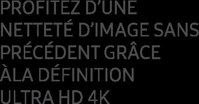 Profitez d'une Netteté d'image sans Précédent grâce Àla definition Ultra hd 4k