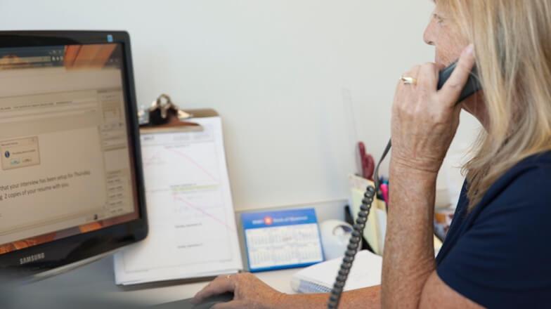 Centre d'appels du service à la clientèle