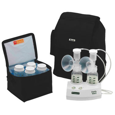 Ameda Purely Yours Double Electric Breast Pump with Backpack