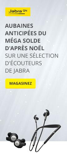 AUBAINES anticipées du Méga solde d'après Noël sur une sélection d'écouteurs de Jabra