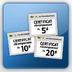 Impression et échange des certificats