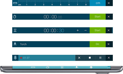 Samsung Galaxy Note Edge: Edge Controls — Always in Control