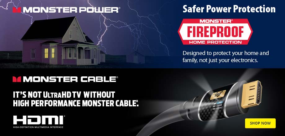 Safer power protection. Monster Cable. Designed to protect your home and family, not just your electrionics. Shop Now.